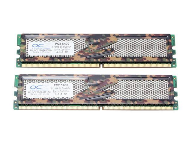 OCZ S.O.E 1GB (2 x 512MB) 240-Pin DDR2 SDRAM DDR2 667 (PC2 5400) Dual Channel Kit Desktop Memory Model OCZ2SOE6671GK