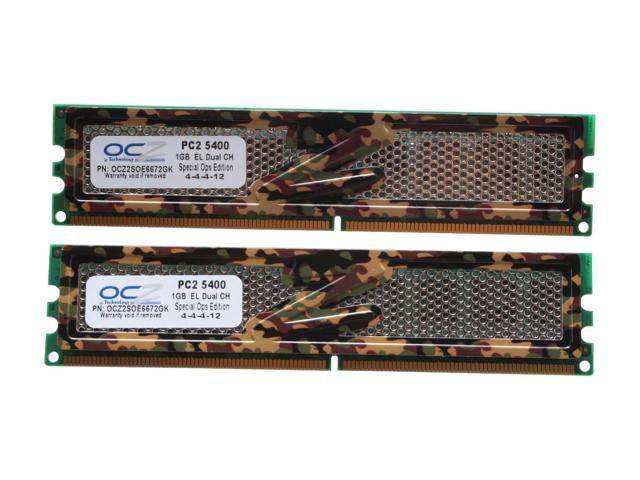 OCZ S.O.E 2GB (2 x 1GB) 240-Pin DDR2 SDRAM DDR2 667 (PC2 5400) Dual Channel Kit Desktop Memory Model OCZ2SOE6672GK