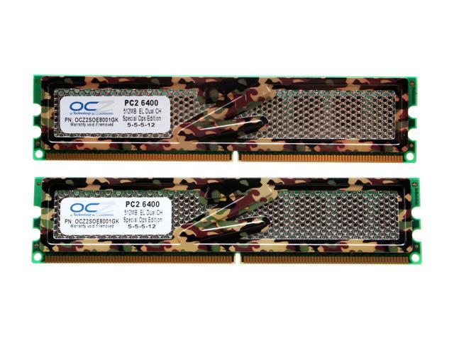 OCZ S.O.E 1GB (2 x 512MB) 240-Pin DDR2 SDRAM DDR2 800 (PC2 6400) Dual Channel Kit Desktop Memory Model OCZ2SOE8001GK