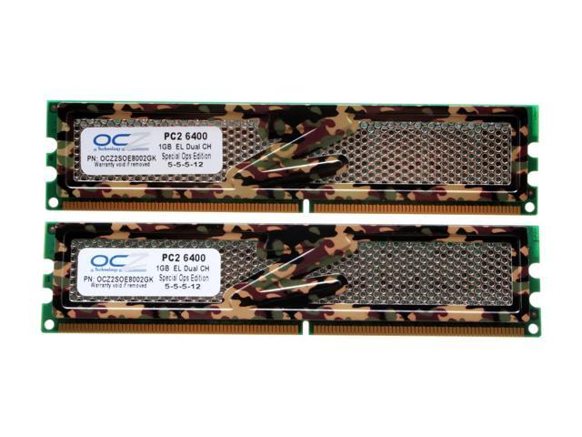 OCZ S.O.E 2GB (2 x 1GB) 240-Pin DDR2 SDRAM DDR2 800 (PC2 6400) Dual Channel Kit Desktop Memory Model OCZ2SOE8002GK