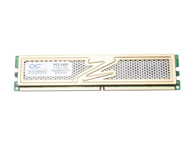 OCZ Gold 512MB 240-Pin DDR2 SDRAM DDR2 800 (PC2 6400) Desktop Memory Model OCZ2G800512
