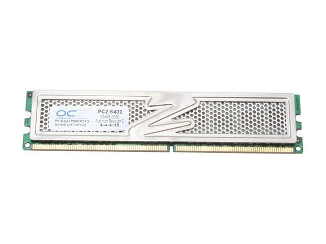 OCZ Platinum Revision 2 1GB 240-Pin DDR2 SDRAM DDR2 800 (PC2 6400) Desktop Memory Model OCZ2P800R21G