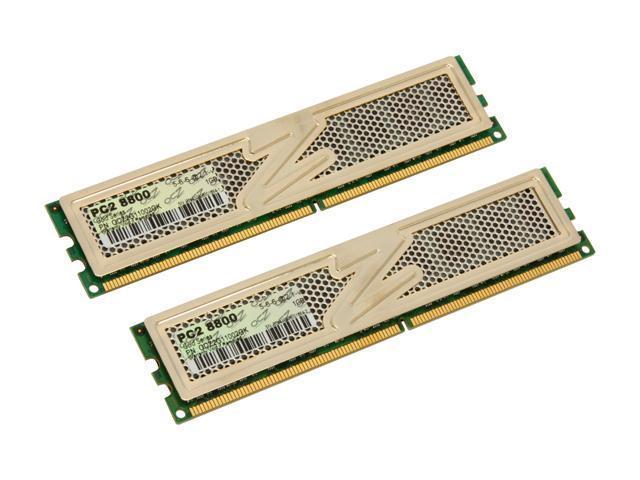 OCZ Gold 2GB (2 x 1GB) 240-Pin DDR2 SDRAM DDR2 1100 (PC2 8800) Dual Channel Kit Desktop Memory Model OCZ2G11002GK