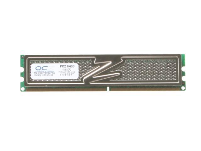 OCZ Platinum DFI Special 1GB 240-Pin DDR2 SDRAM DDR2 800 (PC2 6400) Desktop Memory Model OCZ2P800LP1G