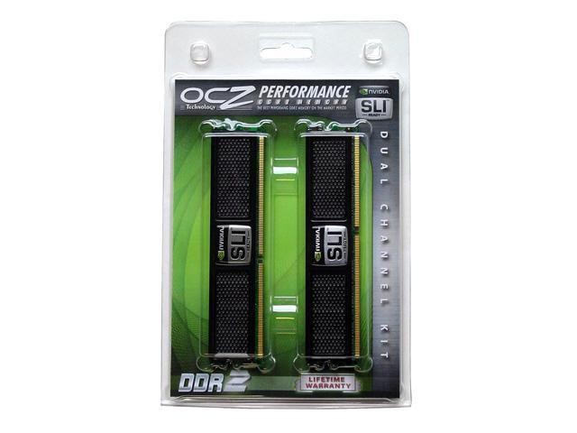 OCZ SLI-Ready Edition 2GB (2 x 1GB) 240-Pin DDR2 SDRAM DDR2 1066 (PC2 8500) Dual Channel Kit Desktop Memory Model OCZ2N1066SR2GK