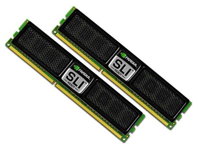 OCZ SLI-Ready 2GB (2 x 1GB) 240-Pin DDR2 SDRAM DDR2 800 (PC2 6400) Dual Channel Kit Desktop Memory Model OCZ2N800SR2GK