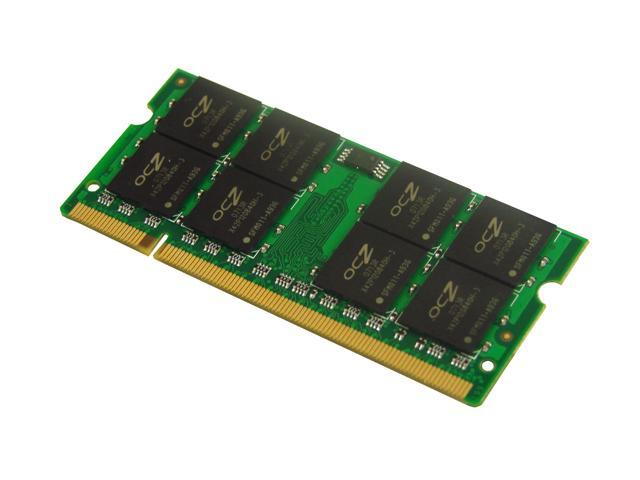 OCZ 2GB (2 x 1GB) 200-Pin DDR2 SO-DIMM DDR2 800 (PC2 6400) Dual Channel Kit Laptop Memory Model OCZ2M8002GK