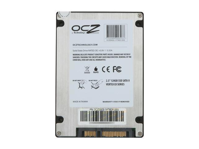 """OCZ Vertex EX OCZSSD2-1VTXEX120G 2.5"""" 120GB SATA II SLC Internal Solid State Drive (SSD)"""