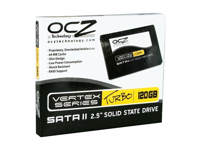 """OCZ Vertex Turbo OCZSSD2-1VTXT120G 2.5"""" 120GB SATA II MLC Internal Solid State Drive (SSD)"""