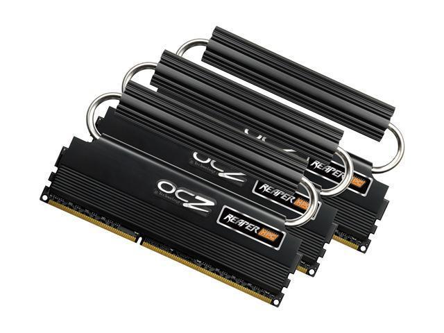 OCZ Reaper HPC R2 6GB (3 x 2GB) 240-Pin DDR3 SDRAM DDR3 1600 (PC3 12800) Desktop Memory Model OCZ3RPR1600R2LV6GK