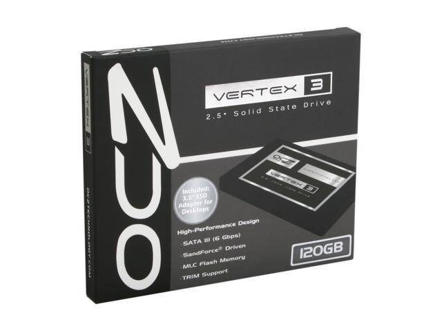 """OCZ Vertex 3 2.5"""" 120GB SATA III MLC Internal Solid State Drive (SSD) VTX3-25SAT3-120G"""