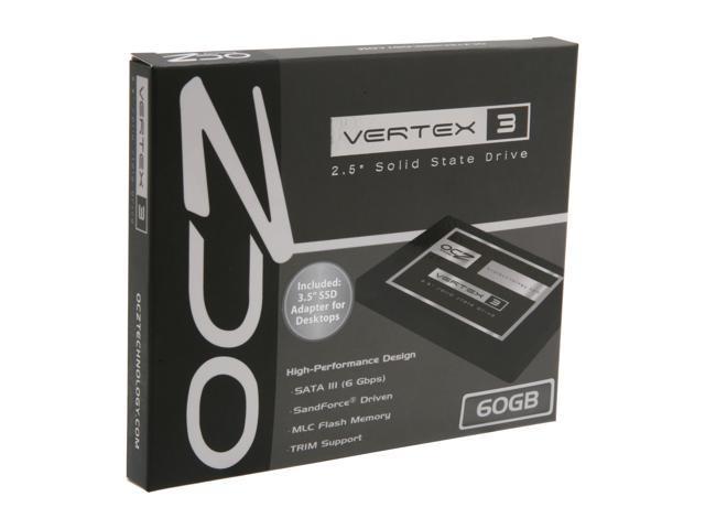 """OCZ Vertex 3 2.5"""" 60GB SATA III MLC Internal Solid State Drive (SSD) VTX3-25SAT3-60G"""