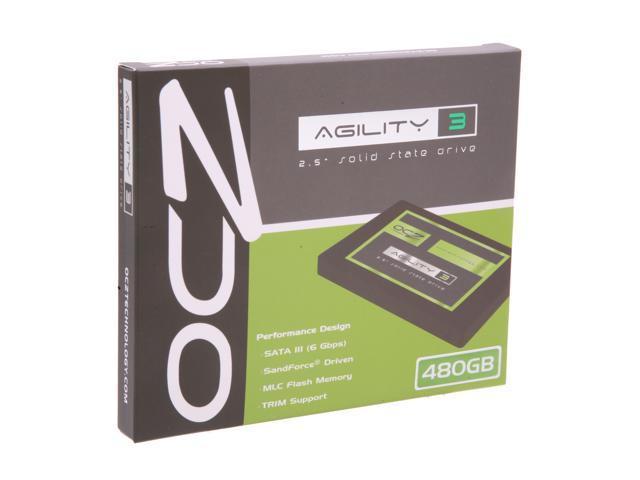 "OCZ Agility 3 2.5"" 480GB SATA III MLC Internal Solid State Drive (SSD) AGT3-25SAT3-480G"