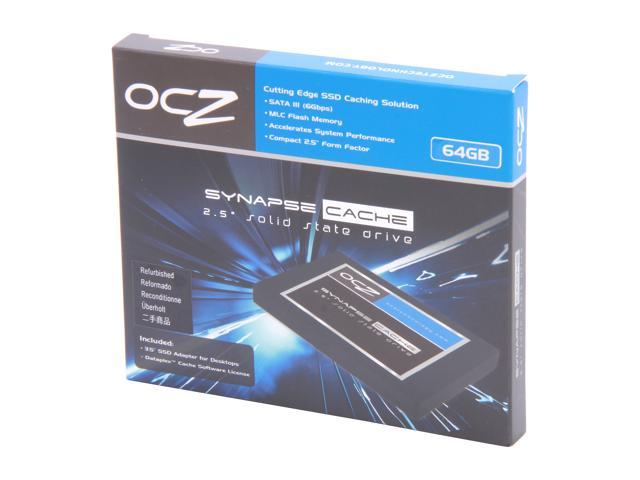 "Manufacturer Recertified OCZ Synapse Cache 2.5"" 64GB (32GB cache capacity) SATA III MLC Internal Solid State Drive (SSD) ..."