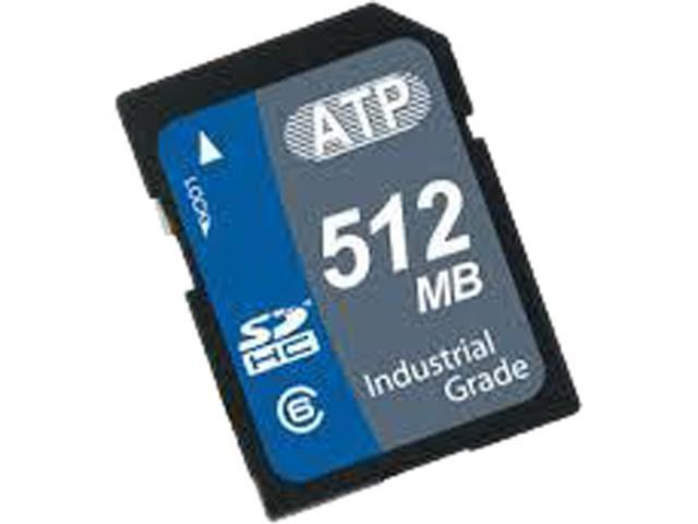 ATP 512MB Secure Digital (SD) Flash Card Model AF512SDI-5ACXX