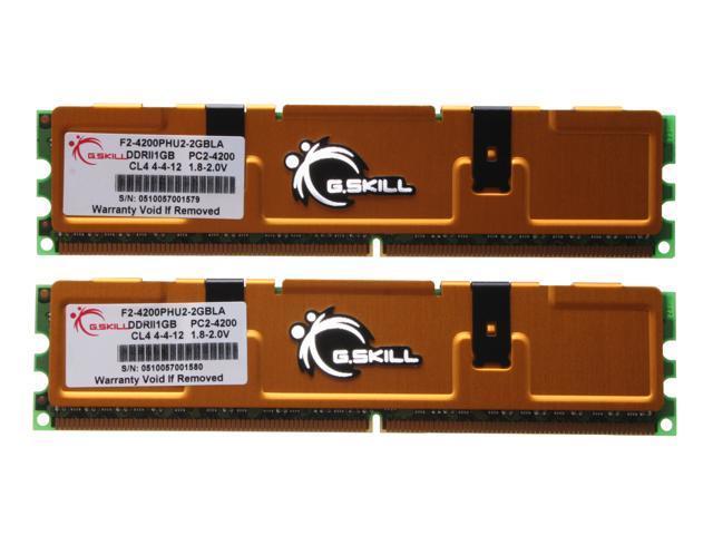 G.SKILL 2GB (2 x 1GB) 240-Pin DDR2 SDRAM DDR2 533 (PC2 4200) System Memory Model F2-4200PHU2-2GBLA