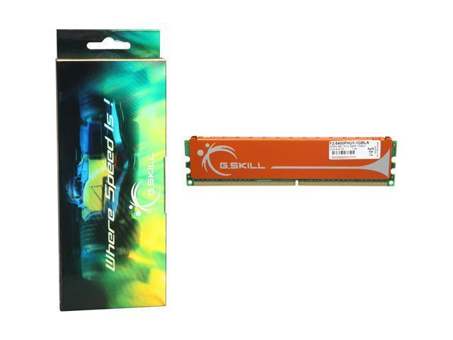 G.SKILL 1GB 240-Pin DDR2 SDRAM DDR2 667 (PC2 5400) Desktop Memory Model F2-5400PHU1-1GBLA