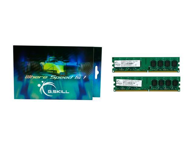 G.SKILL 1GB (2 x 512MB) 240-Pin DDR2 SDRAM DDR2 667 (PC2 5400) Dual Channel Kit Desktop Memory Model F2-5400PHU2-1GBNT