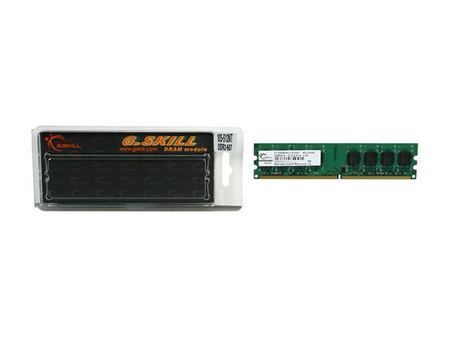 G.SKILL 512MB 240-Pin DDR2 SDRAM DDR2 667 (PC2 5300) Desktop Memory Model F2-5300PHU1-512NT