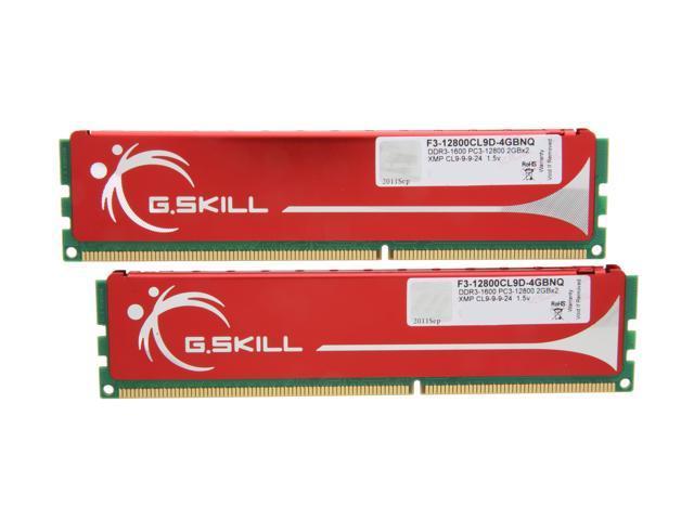 G.SKILL 4GB (2 x 2GB) 240-Pin DDR3 SDRAM DDR3 1600 (PC3 12800) Dual Channel Kit Desktop Memory Model F3-12800CL9D-4GBNQ