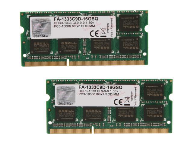 G.SKILL 16GB (2 x 8GB) DDR3 1333 (PC3 10600) Memory for Apple Model FA-1333C9D-16GSQ