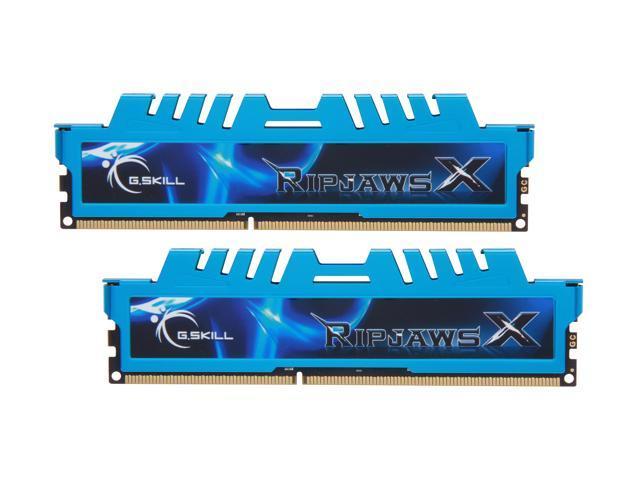 G.SKILL Ripjaws X Series 16GB (2 x 8GB) 240-Pin DDR3 SDRAM DDR3 1866 (PC3 14900) Desktop Memory Model F3-1866C9D-16GXM