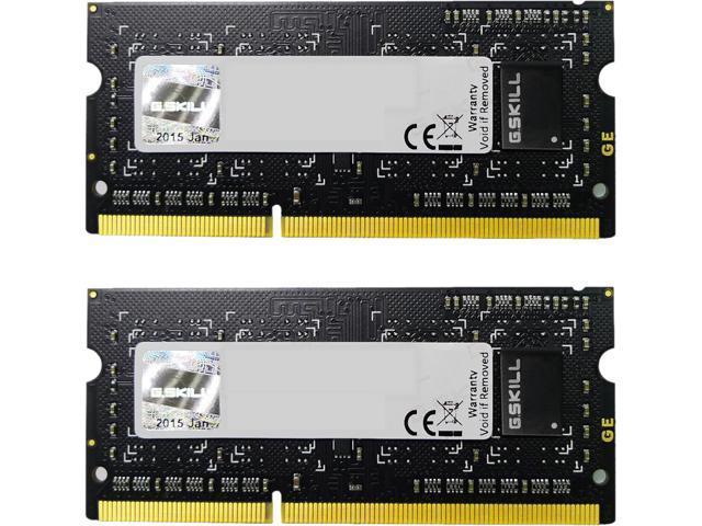 G.SKILL 8GB (2 x 4GB) 204-Pin DDR3 SO-DIMM DDR3L 1600 (PC3L 12800) Laptop Memory Model F3-1600C9D-8GSL