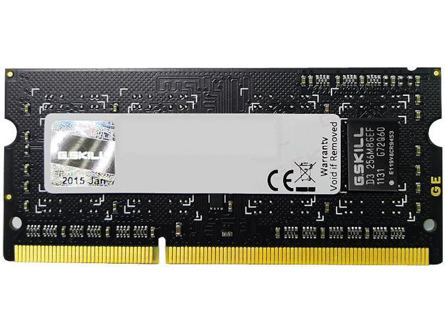 G.SKILL 4GB 204-Pin DDR3 SO-DIMM DDR3L 1600 (PC3L 12800) Laptop Memory Model F3-1600C11S-4GSL