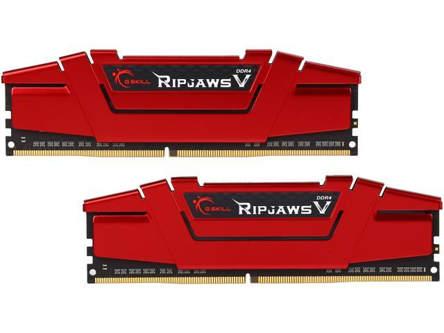 G.SKILL Ripjaws V Series 16GB (2 x 8GB) 288-Pin DDR4 SDRAM DDR4 2400 (PC4 19200) Intel Z170 Platform / Intel X99 Platform Desktop Memory Model F4-2400C15D-16GVR