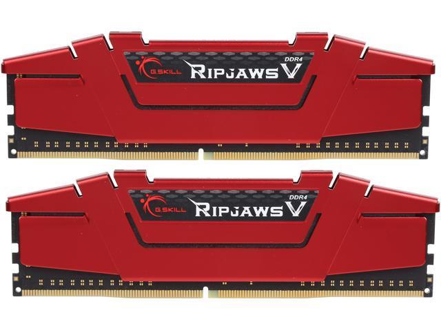 G.SKILL Ripjaws V Series 32GB (2 x 16GB) 288-Pin DDR4 SDRAM DDR4 2400 (PC4 19200) Intel Z170 Platform / Intel X99 Platform Desktop Memory Model F4-2400C15D-32GVR