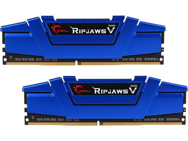 G.SKILL Ripjaws V Series 16GB (2 x 8GB) 288-Pin DDR4 SDRAM DDR4 2666 (PC4 21300) Intel Z170 Platform / Intel X99 Platform Desktop Memory Model F4-2666C15D-16GVB
