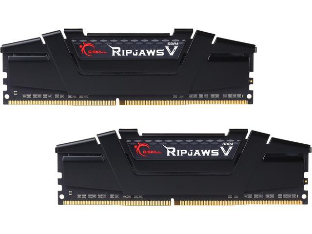 G.SKILL Ripjaws V Series 16GB (2 x 8GB) 288-Pin DDR4 SDRAM DDR4 3000 (PC4 24000) Intel Z170 Platform Memory Kit Model F4-3000C15D-16GVKB
