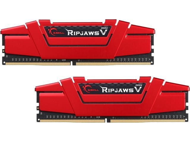 G.SKILL Ripjaws V Series 16GB (2 x 8GB) 288-Pin DDR4 SDRAM DDR4 2800 (PC4 22400) Intel Z170 Platform Desktop Memory Model F4-2800C17D-16GVR
