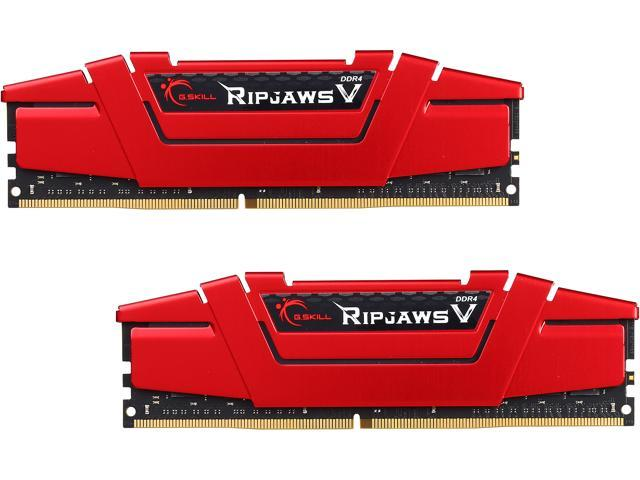 G.SKILL Ripjaws V Series 16GB (2 x 8GB) 288-Pin DDR4 SDRAM DDR4 3200 (PC4 25600) Intel Z170 Platform Desktop Memory Model F4-3200C16D-16GVR
