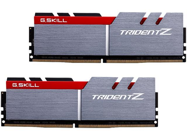 G.SKILL TridentZ Series 16GB (2 x 8GB) 288-Pin DDR4 SDRAM DDR4 4133 (PC4 33000) Intel Z170 Platform Desktop Memory Model F4-4133C19D-16GTZA
