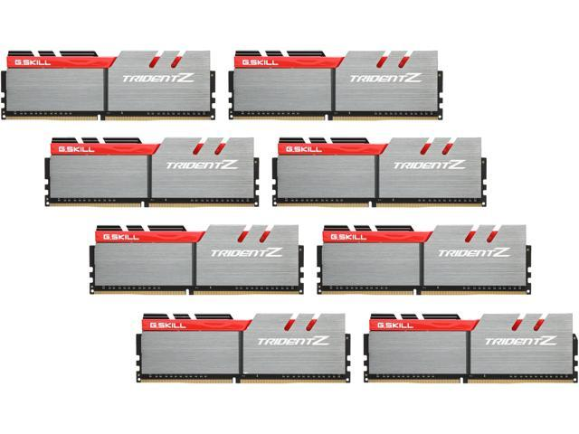 G.SKILL TridentZ Series 64GB (8 x 8GB) 288-Pin DDR4 SDRAM DDR4 3200 (PC4 25600) Intel X99 Platform Memory (Desktop Memory) Model F4-3200C16Q2-64GTZB