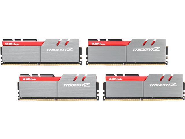 G.SKILL TridentZ Series 64GB (4 x 16GB) 288-Pin DDR4 SDRAM DDR4 3200 (PC4 25600) Intel X99 Platform Memory (Desktop Memory) Model F4-3200C16Q-64GTZ