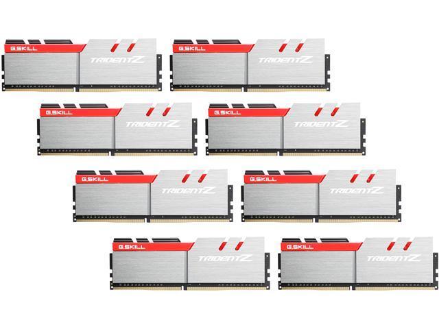 G.SKILL TridentZ Series 64GB (8 x 8GB) 288-Pin DDR4 SDRAM DDR4 3200 (PC4 25600) Intel X99 Platform Memory (Desktop Memory) Model F4-3200C15Q2-64GTZ
