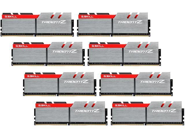 G.SKILL TridentZ Series 64GB (8 x 8GB) 288-Pin DDR4 SDRAM DDR4 3466 (PC4 27700) Intel X99 Platform Memory (Desktop Memory) Model F4-3466C16Q2-64GTZ