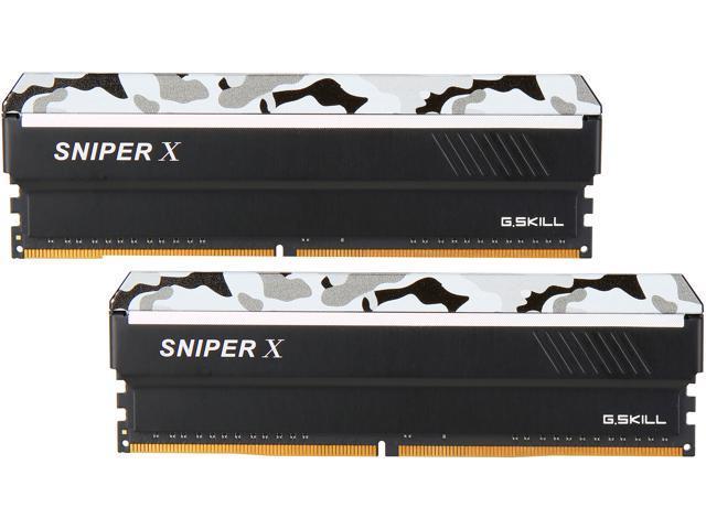 PC4 21300 2 x 8GB 288-Pin DDR4 SDRAM DDR4 2666 G.SKILL Sniper X Series 16GB