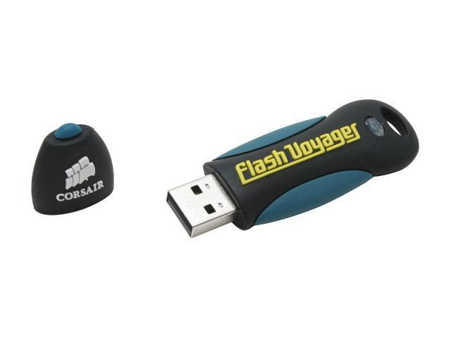 CORSAIR Flash Voyager 512MB Flash Drive (USB2.0 Portable) 256bit AES Encryption Model CMFUSB2.0-512