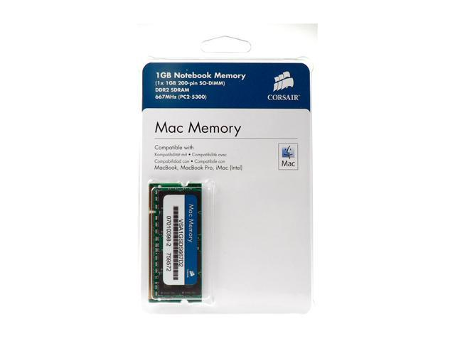 CORSAIR 1GB DDR2 667 (PC2 5300) Memory for Apple Notebook Model VSA1GSDS667D2