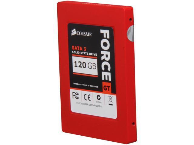 """Corsair Force Series GT 2.5"""" 120GB SATA III Internal Solid State Drive (SSD) CSSD-F120GBGT-BK"""