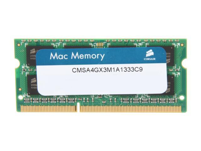 CORSAIR 4GB 204-Pin DDR3 SO-DIMM DDR3 1333 (PC3 10600) Memory for Apple Model CMSA4GX3M1A1333C9