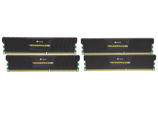 CORSAIR Vengeance LP 16GB (4 x 4GB) 240-Pin DDR3 SDRAM DDR3 1600 Desktop Memory Model CML16GX3M4X1600C8