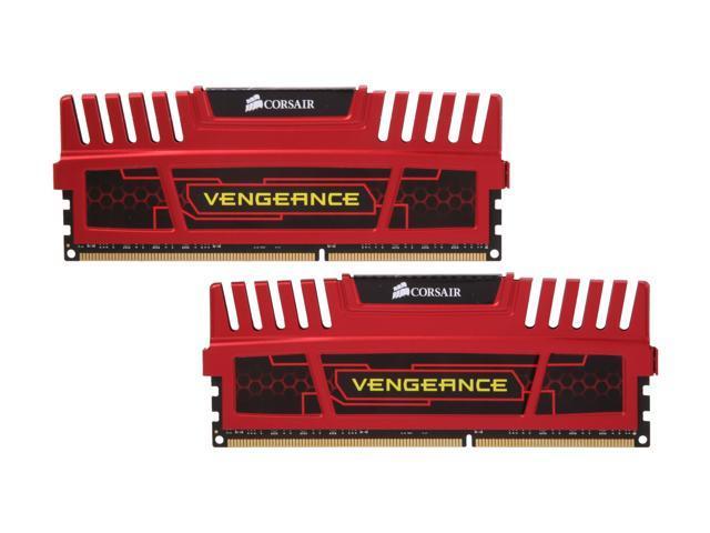 CORSAIR Vengeance 8GB (2 x 4GB) 240-Pin DDR3 SDRAM DDR3 1600 (PC3 12800) Desktop Memory Model CMZ8GX3M2X1600C7R