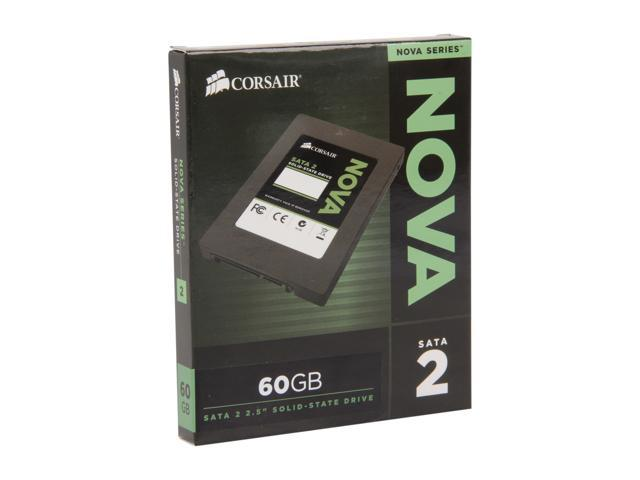 "Corsair Nova Series 2 2.5"" 60GB SATA II Internal Solid State Drive (SSD) CSSD-V60GB2A"