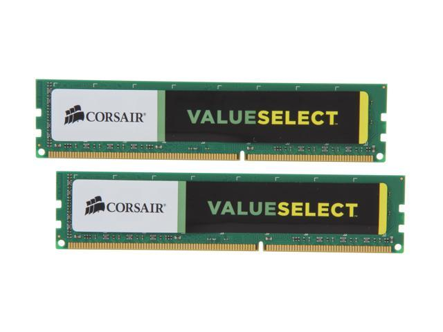 CORSAIR ValueSelect 16GB (2 x 8GB) 240-Pin DDR3 SDRAM DDR3 1333 Desktop Memory Model CMV16GX3M2A1333C9