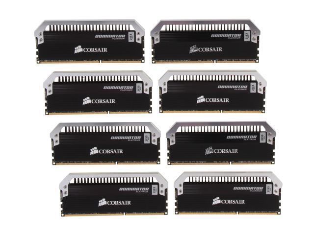 CORSAIR Dominator Platinum 64GB (8 x 8GB) 240-Pin DDR3 SDRAM DDR3 2133 (PC3 17000) Desktop Memory Model CMD64GX3M8A2133C9