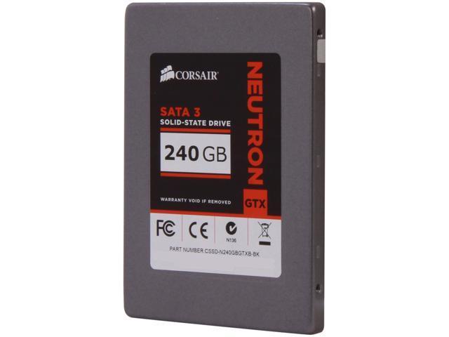 "Corsair Neutron Series GTX 2.5"" 240GB SATA III Internal Solid State Drive (SSD) CSSD-N240GBGTXB-BK"
